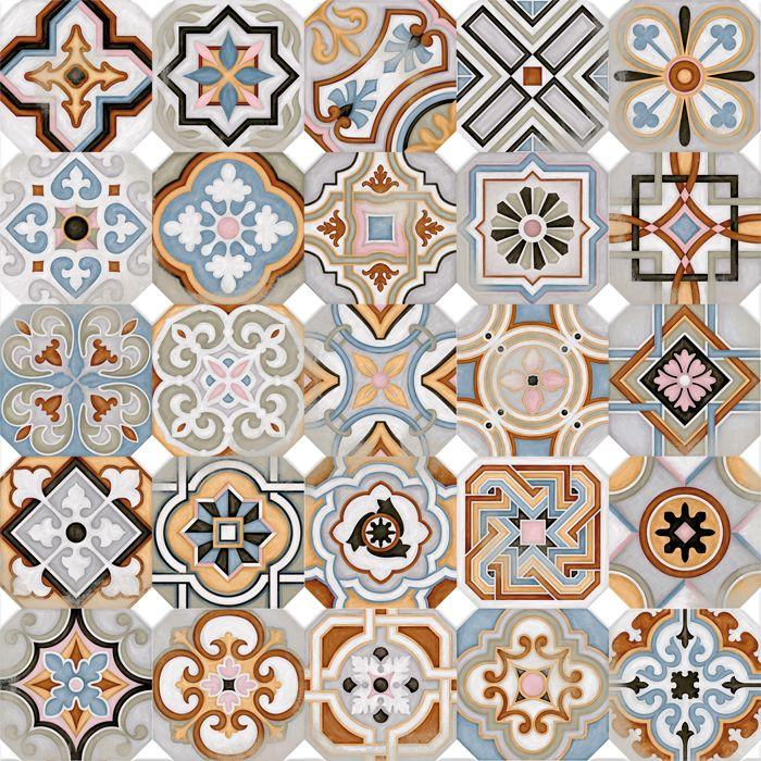 Vodevil oct gono musichalls multicolor 20x20cm - Azulejos vintage cocina ...