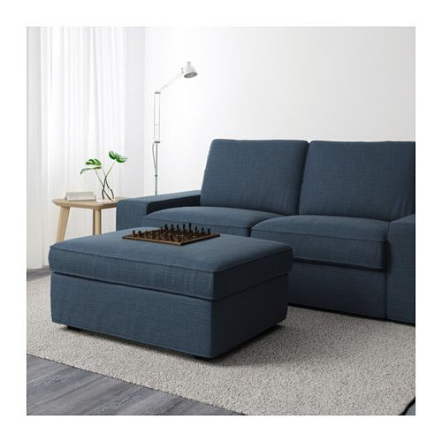 Kivik Ottoman With Storage Hillared Anthracite Downstairs