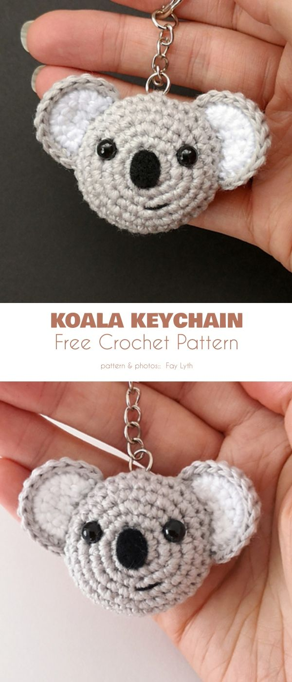 Adorable Keychain Free Crochet Patterns #pattern