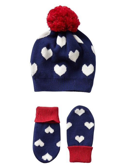 Gap Intarsia Heart Hat Amp Mitten Set Cute Outfits For