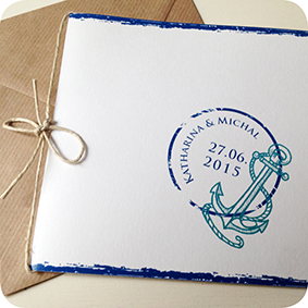Maritime Einladungskarte, Hamburg Einladung Für Hochzeit, Individuell  Designed By Die Kartenfrau