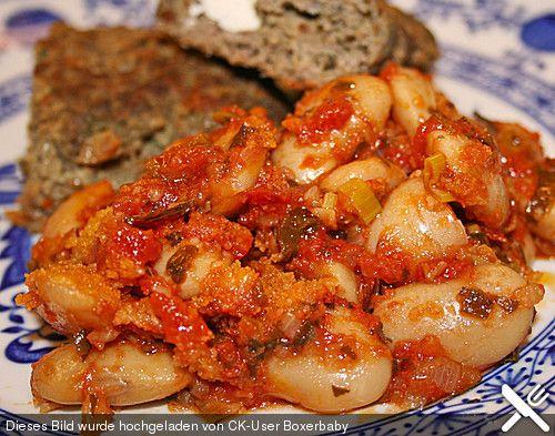 Griechische gebackene Bohnen