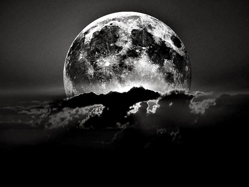 Black and White Moon Wallpaper by HD Wallpapers Daily 1024