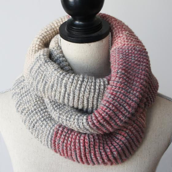 Ombre Infinity Scarf Tunisian Crochet Knitting Patterns And