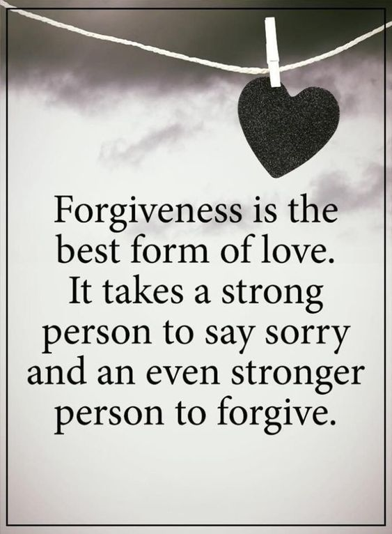 Forgiveness is the best form of love