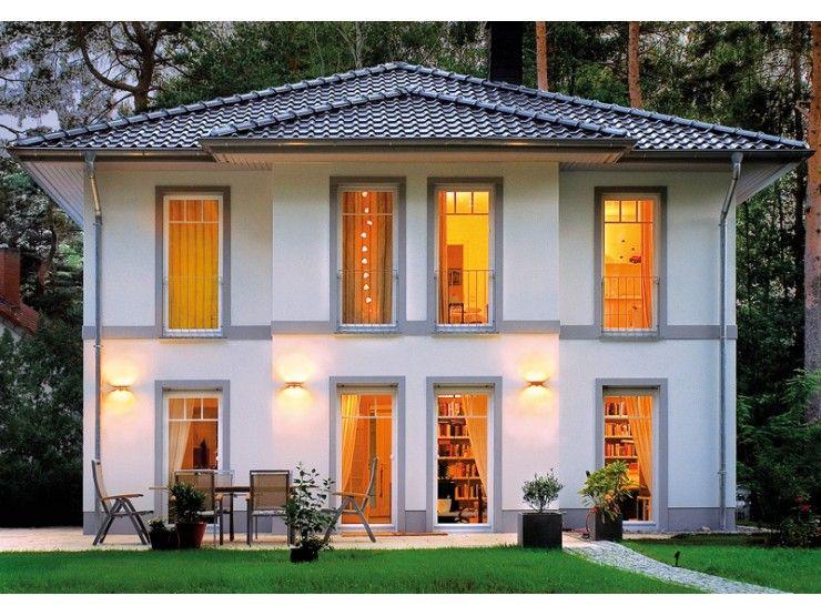 Moderne stadtvilla walmdach  Lugana - #Einfamilienhaus von Bau- GmbH Roth | HausXXL #Stadtvilla ...