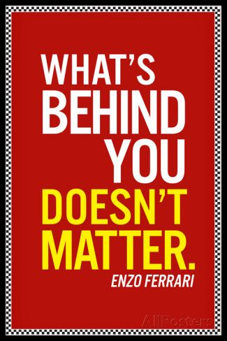 Photo of Enzo Ferrari What's Behind You Quote Posters at AllPosters.com