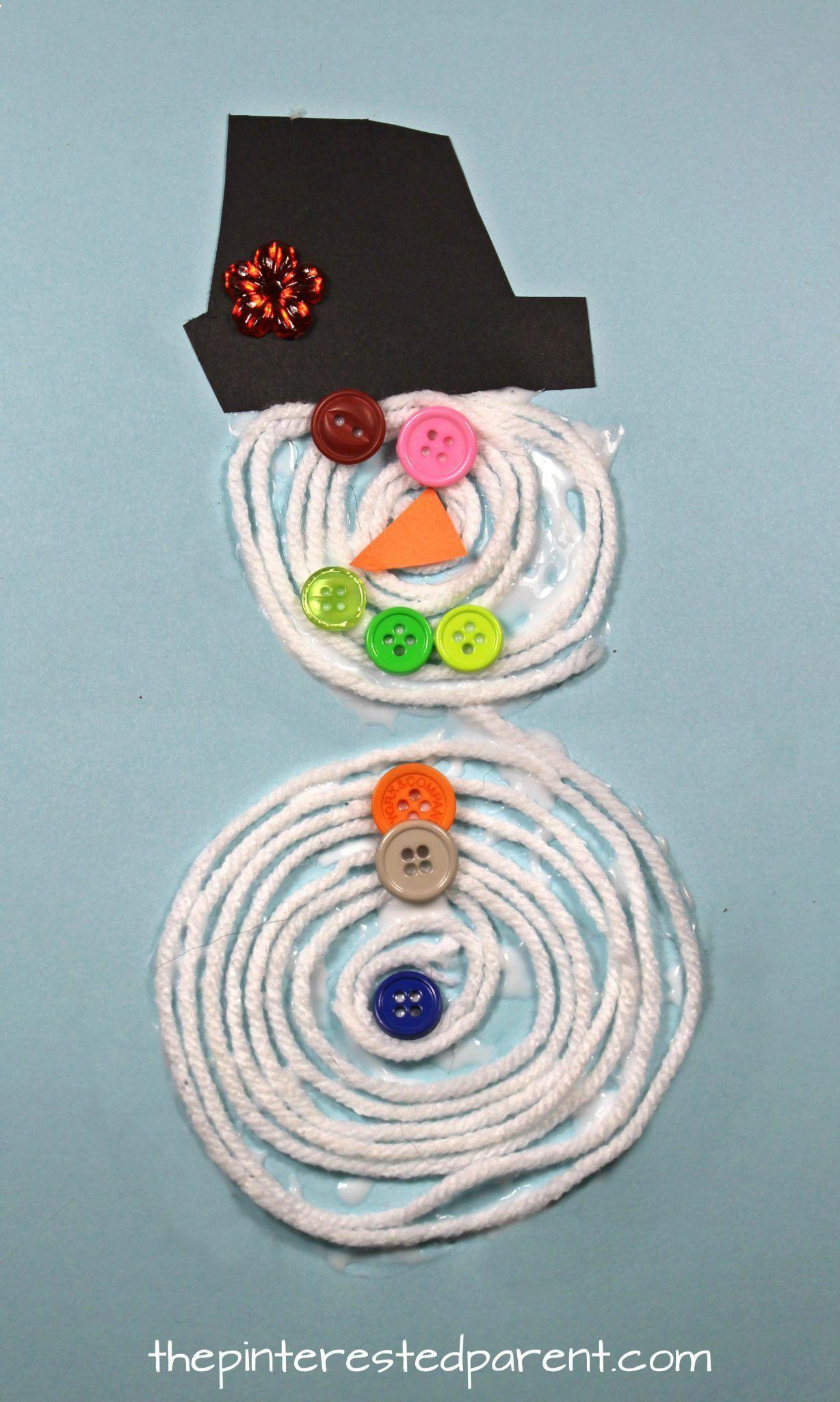 Coiled Yarn Snowman