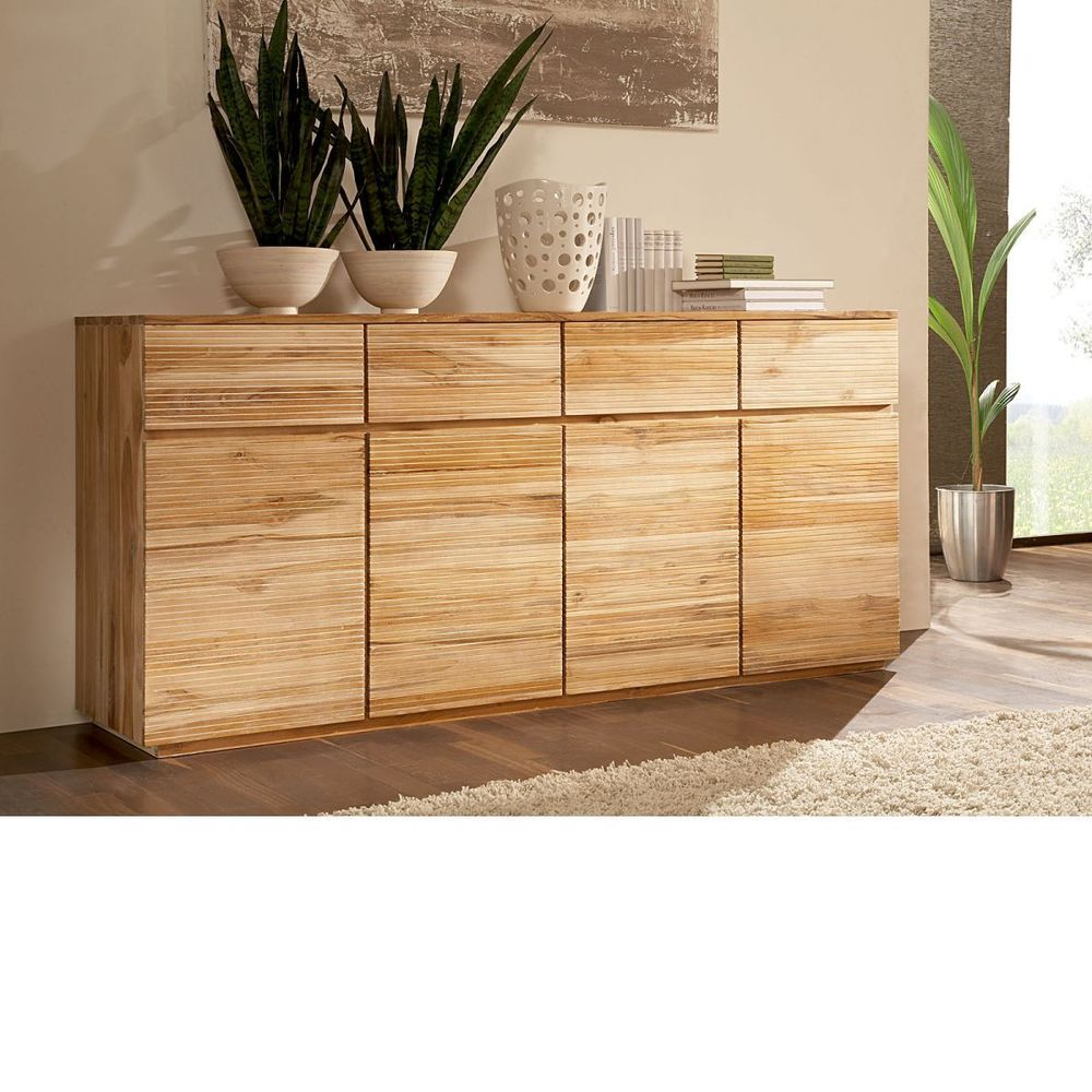 Sideboard Teak massiv Holz Schränke Möbel neu OSBON | Kommoden ...