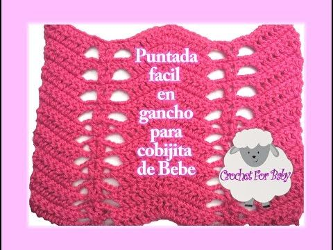 Puntada facil para Mantita de bebe en gancho #15 - YouTube | VIDEO ...