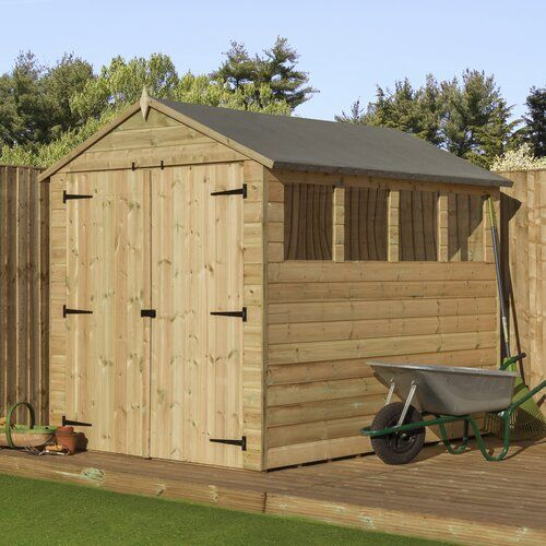 6 Ft W X 7 Ft D Shiplap Wooden Shed Wfx Utility Shiplap Cladding Wooden Sheds Shed