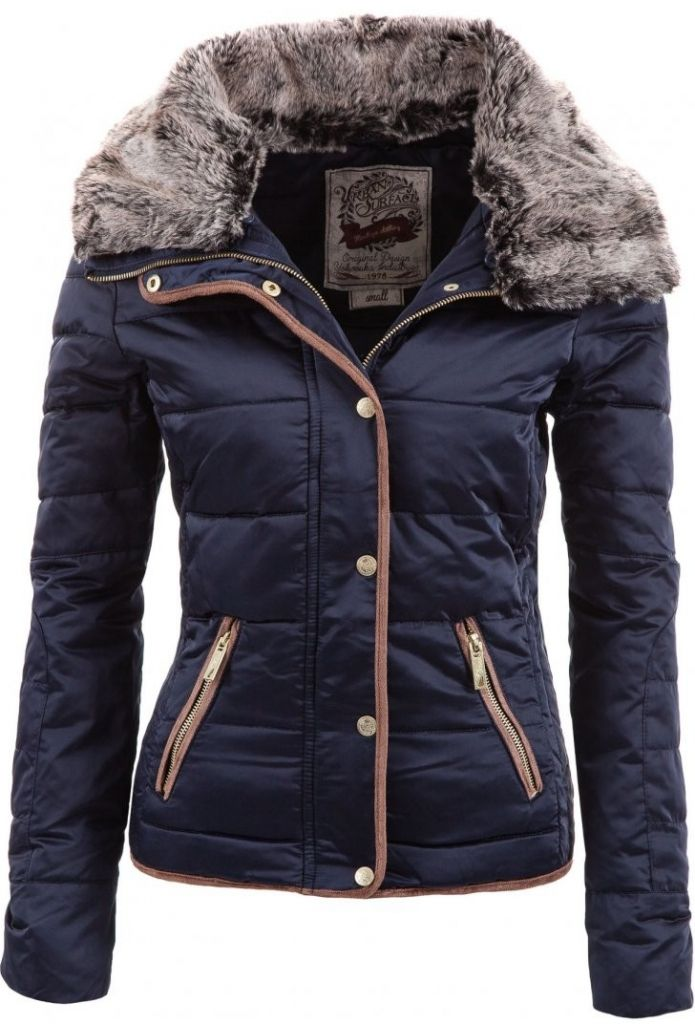 6bb4a446fb03 Chic Turn-Down Neck Long Sleeve Pocket Design Women's Padded Coat ...