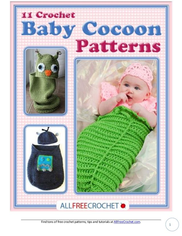 11 baby crochet cocoon patterns 11 baby cocoons englisch, ganze ...