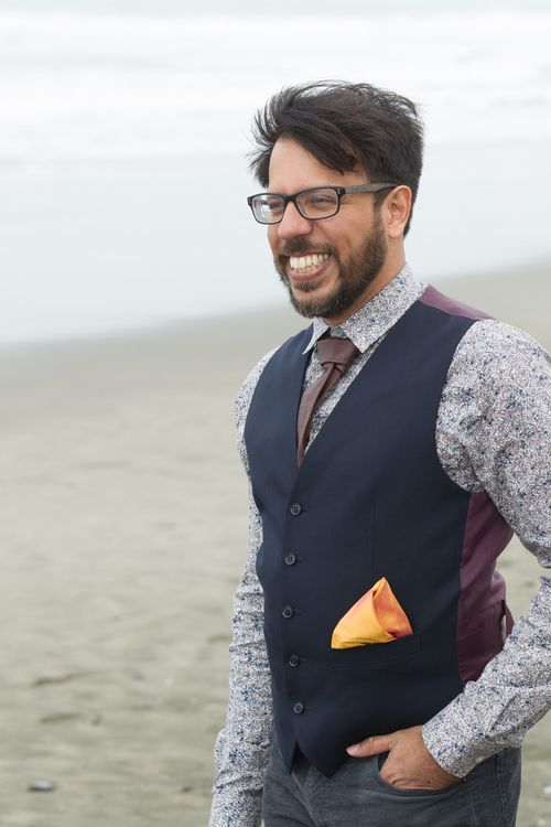 2e1c79e050ac3 Pair the raw silk pocket square with a leather tie and a vest for a true  hipster look.