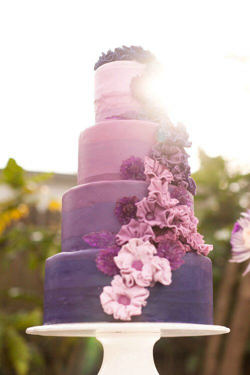 Hochzeitstorte Lila Rosa Wedding Cake Pinterest Wedding Cake