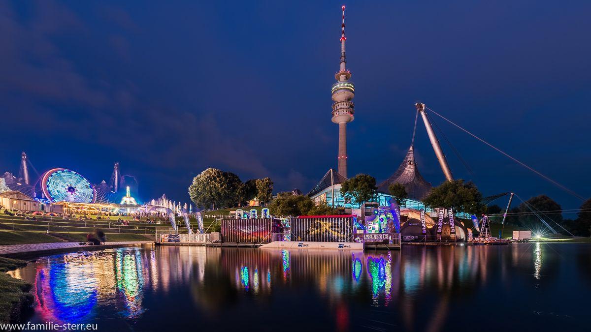 Feuerwerk Im Olympiapark Impark Sommerfestival 2016 Olympia Festival Sommer