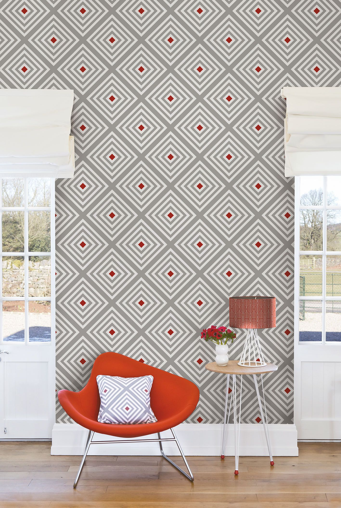 Diamond Wallpaper From Layla Faye Wwwlaylafayecom Retro Modern And Mid