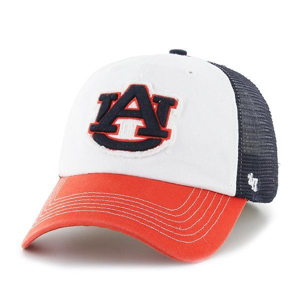 lace up in hot sales authentic Auburn Tigers 47 Brand Tri-Tone Privateer Closer Mesh Flexfit ...