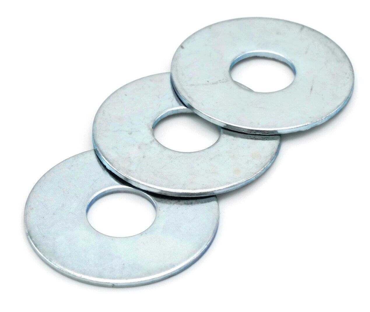 Details About Fender Washers Zinc Plated Steel Large Diameter Washers Sizes 1 8 1 2 Zinc Plating Square Plates Plastic Plates Walmart