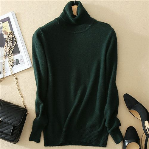 High Quality Cotton Cashmere Sweaters Pullover Women's Turtleneck ...