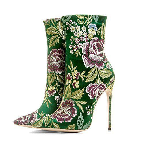 0c73c9cb8a52 CCBubble High Heels Silk Women Shoes 2018 Short Boots Pro... https