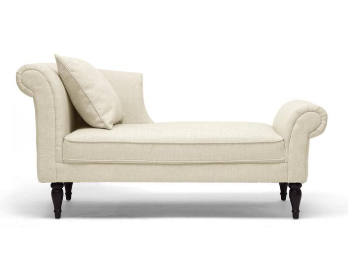Lucille beige linen victorian chaise house