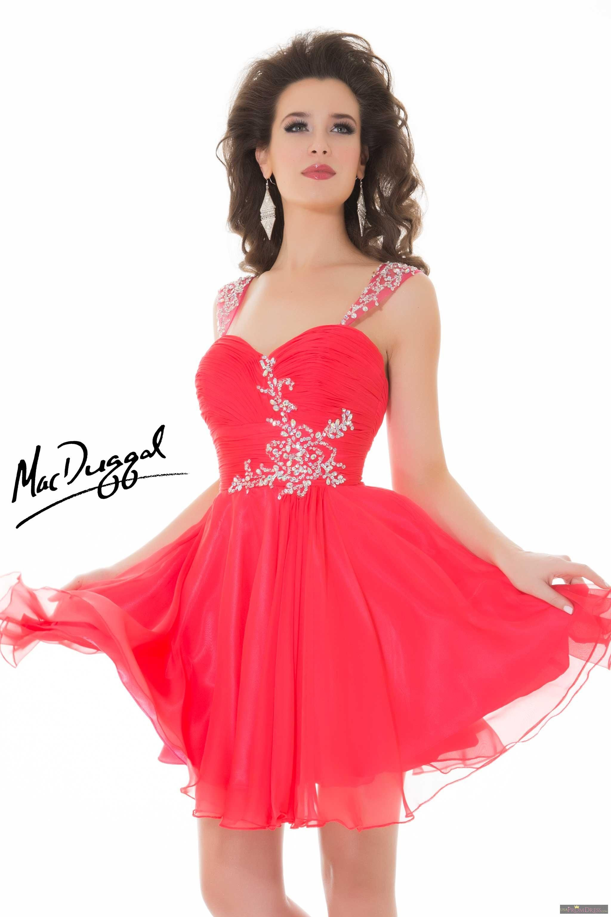 Mac Duggal Style 64591 N - Sophisticated cocktail dress with wide ...