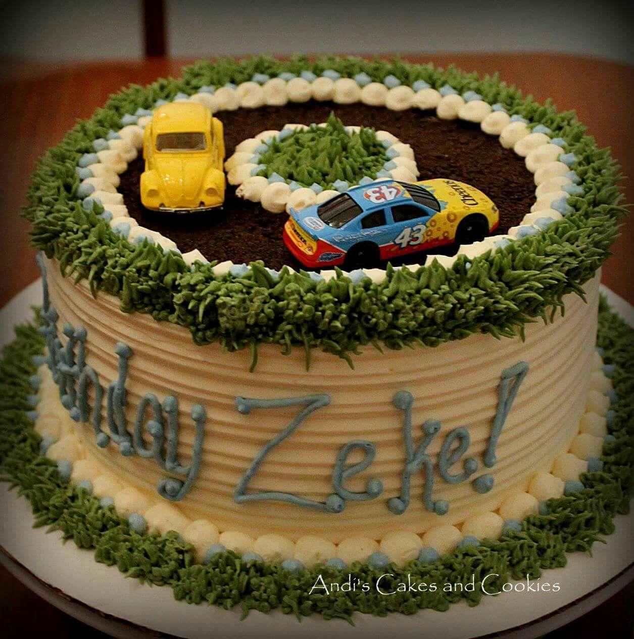 Terrific Race Cars An 8 First Birthday Cake Buttercream Frost Race Funny Birthday Cards Online Hendilapandamsfinfo