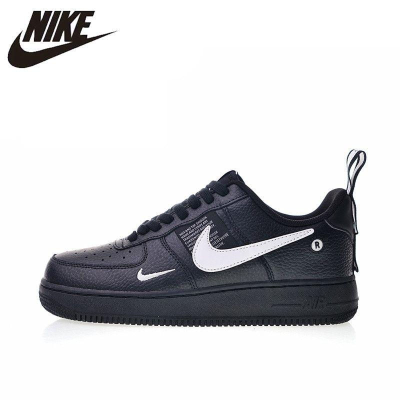 Original Authentic Nike Air Force 1 07 LV8 Utility Men's Skateboarding Shoes Sport Outdoor Sneakers Designer 2018 New AJ7747 001