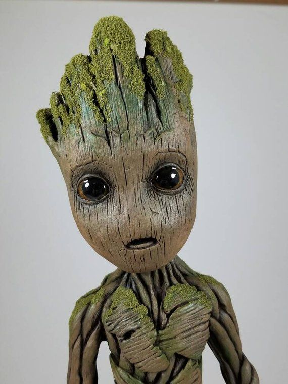 Baby Groot Life Size Sculpture Statue 9 5 Tall V1