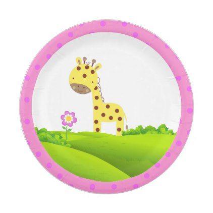 sc 1 st  Pinterest & Adorable Giraffe Paper Plates