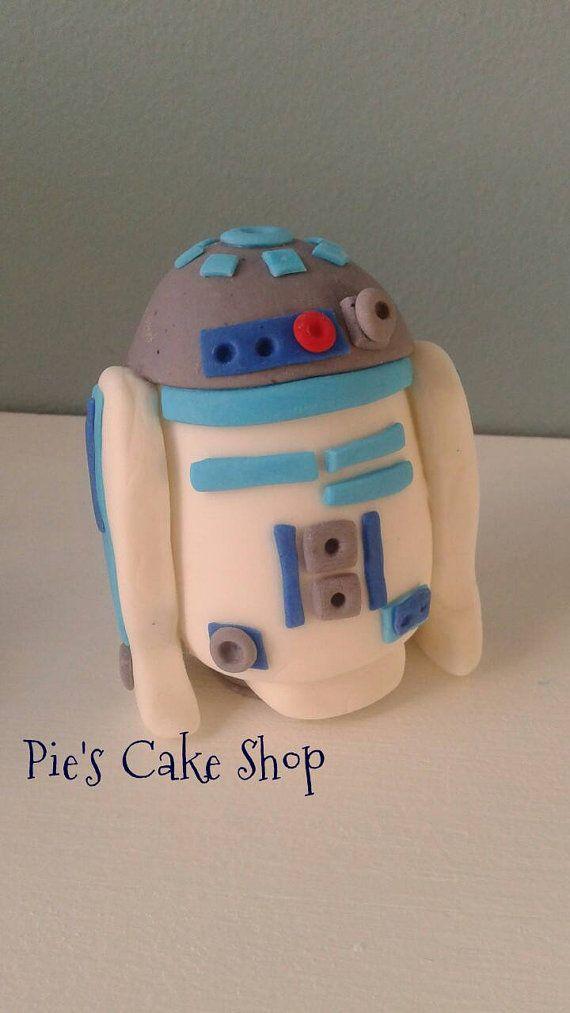 Large Fondant Star Wars Cake Toppers R2d2 All Edible Cake Toppers Othets Available Star Wars Kuchen Basteln Kuchen