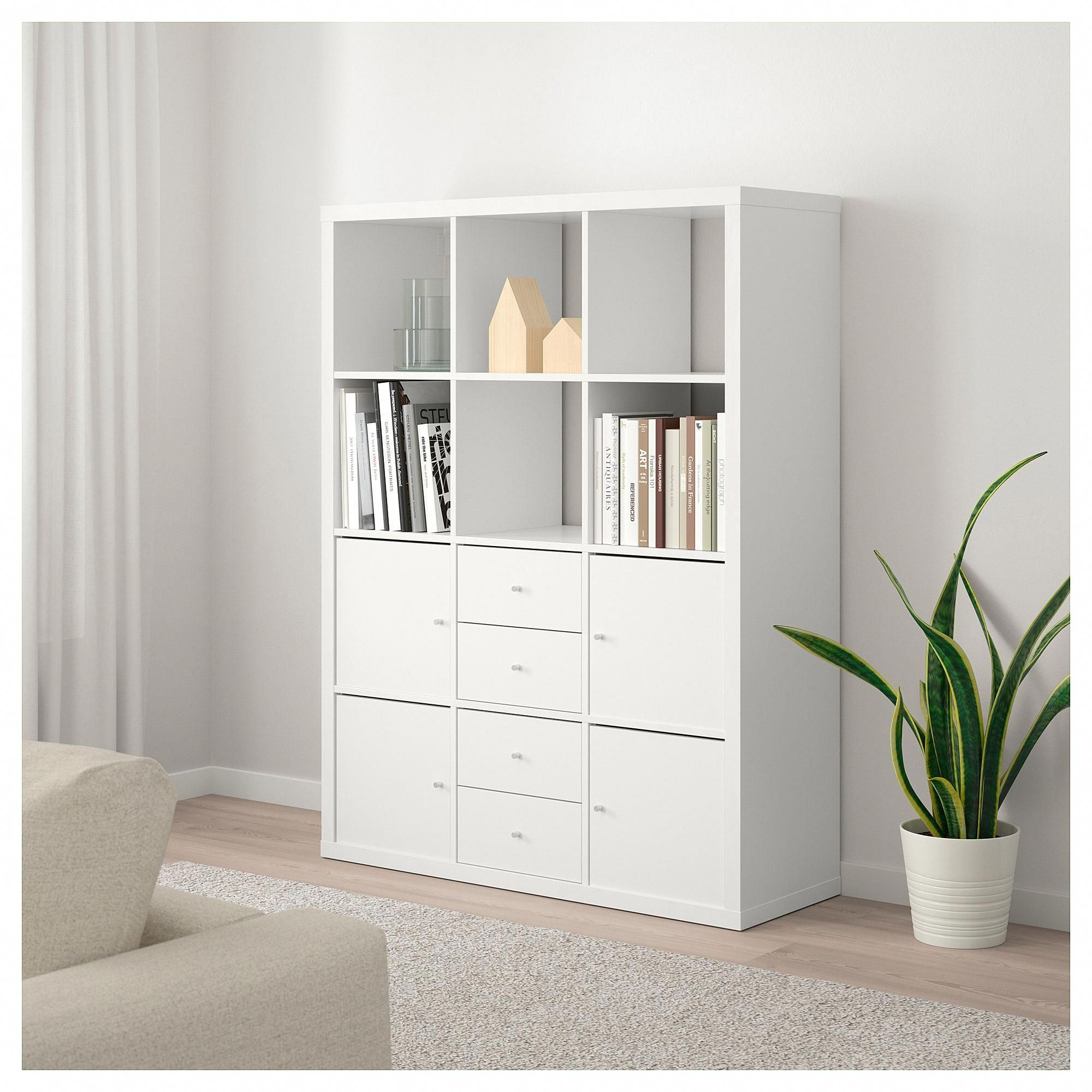 Ikea Kallax Shelving Unit With 6 Inserts White