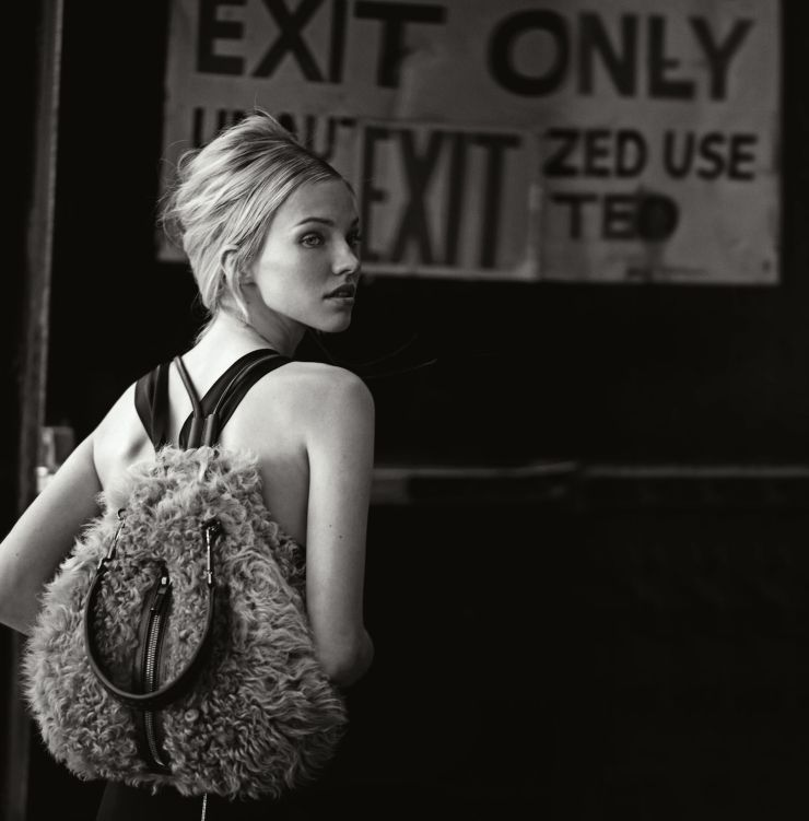 Sasha Luss by Peter Lindbergh for Neiman Marcus September 2014