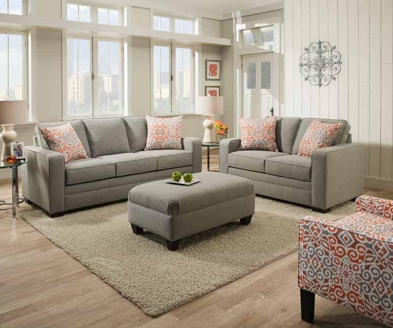 Simmons upholstery miramar ash 2 piece queen sleeper - Simmons living room furniture sets ...