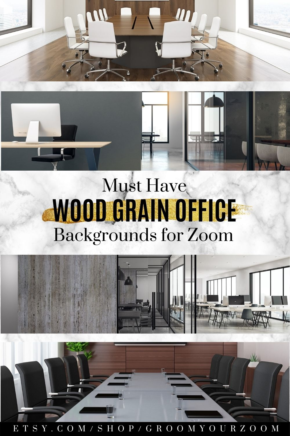 Wood Office Zoom Background 4 Virtual Photos For Video Call Etsy Home Background Virtual Environment
