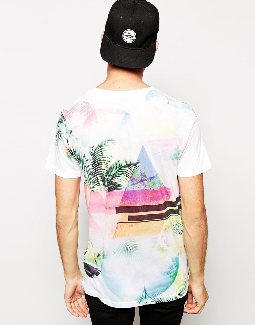 New Look T-Shirt with Neo Palm Print