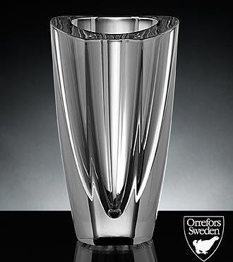 Orrefors Crystal Mirror Vase Diaphanous Crystal Pinterest