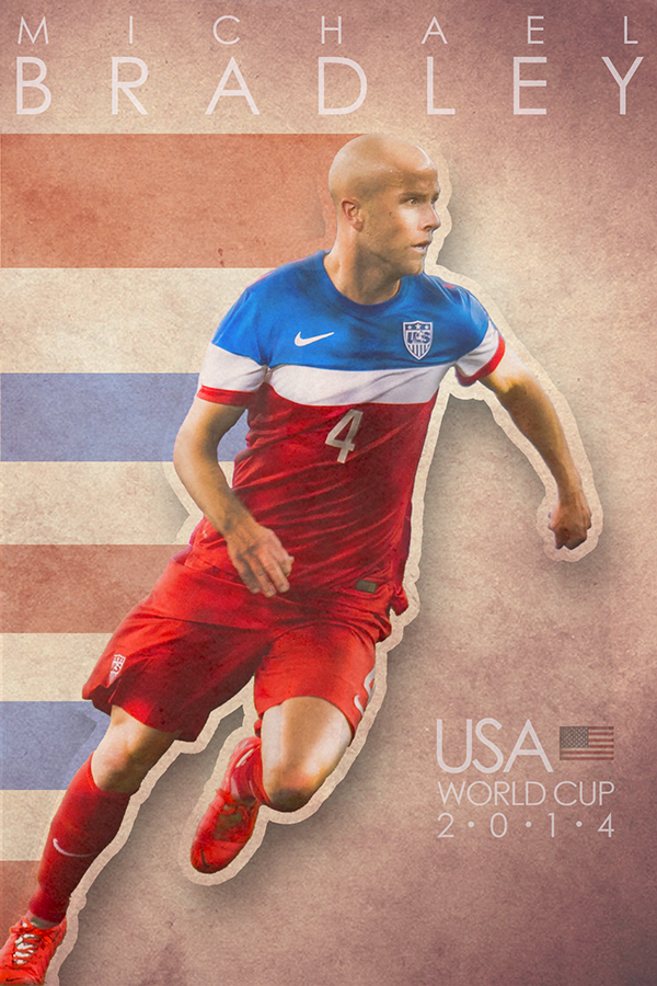 993d71a93 World Cup Poster - Michael Bradley by Jared Wagner