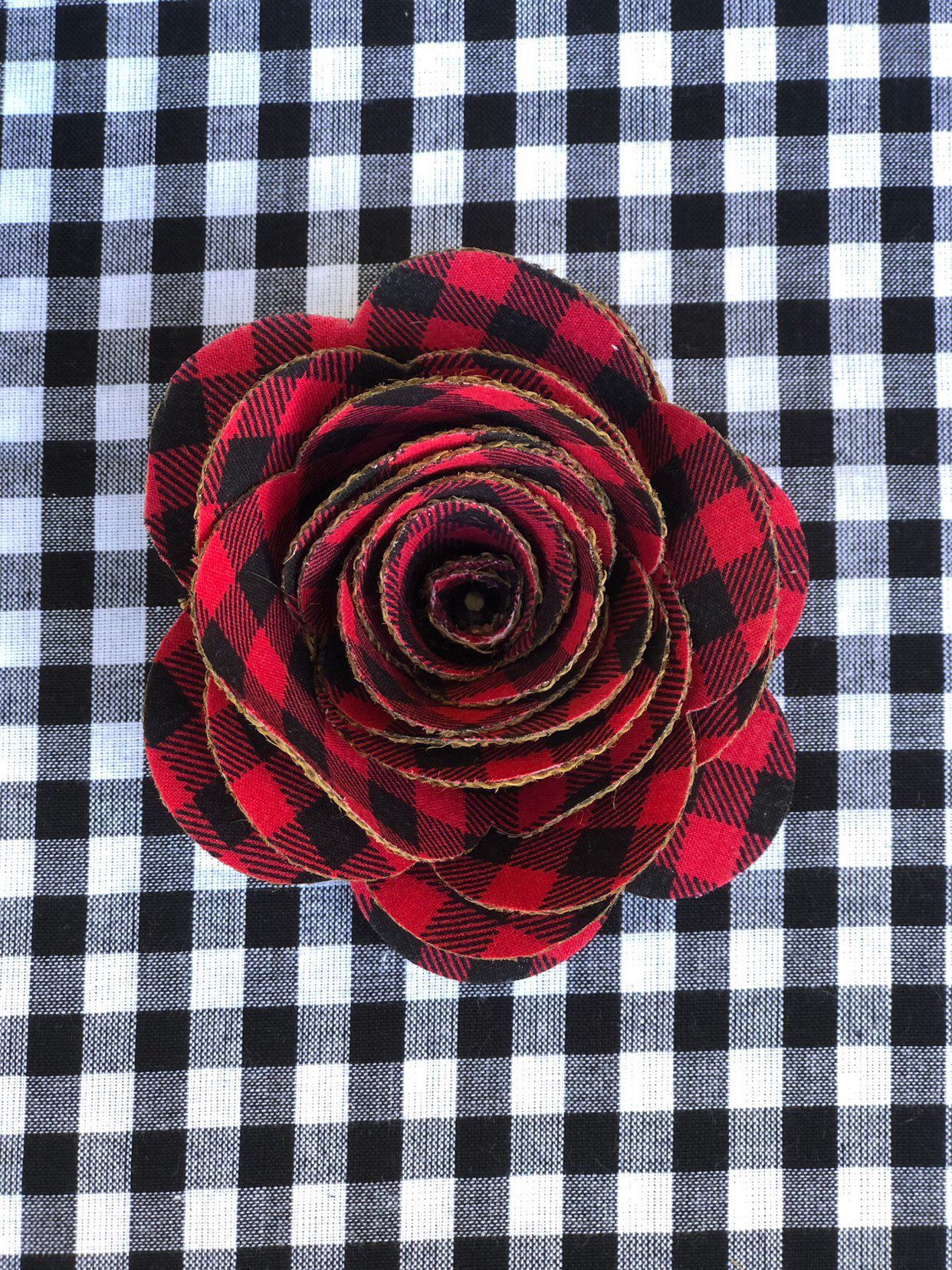Red And Black Buffalo Plaid Flowers Buffalo Check Flowers Etsy In 2020 Rustic Flowers Rustic Wedding Flowers Buffalo Plaid Baby Shower