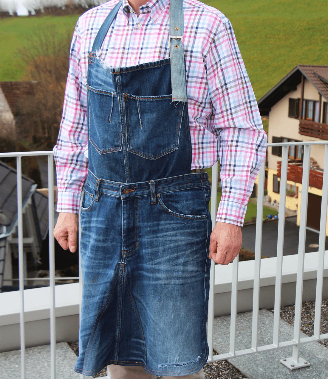 Schürze Aus Einer Alten Jeans | Nähen Und Upcycling | Zum Grillen ...