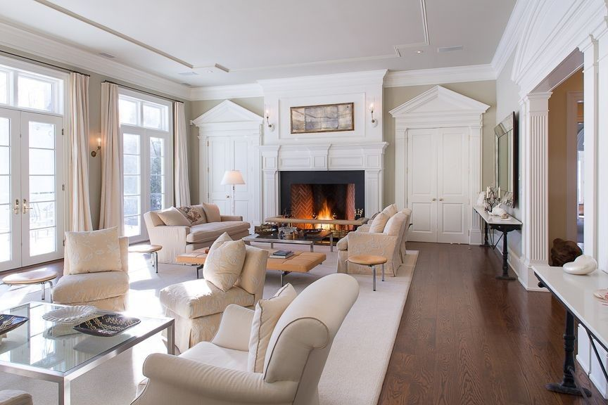 500 beautiful living rooms with fireplaces of all types for Living room 4 doors