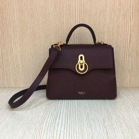90877df3609 2018 S/S Mulberry Mini Seaton Bag Oxblood Small Classic Grain Leather
