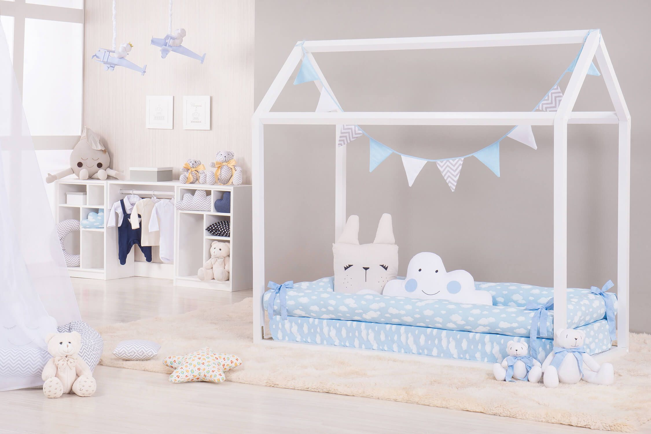 O Kit Montessoriano Nuvem Azul Deixa O Quarto De Beb Mais Suave E