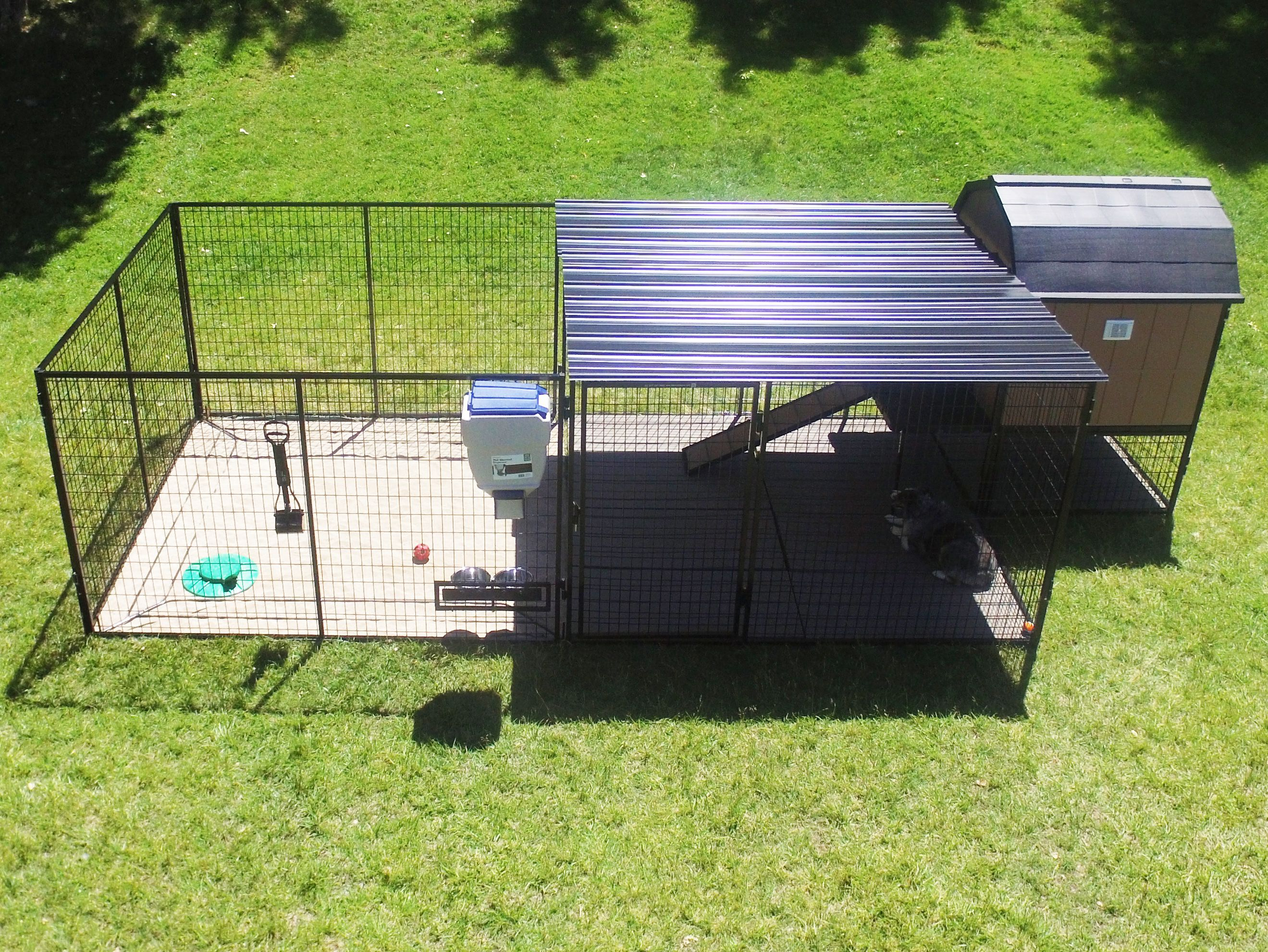 The Ultimate Dog Kennel Is Everything You Need In One Package This Kennel Includes Both Flooring And Metal Corrugate Outdoor Dog Dog Enclosures Diy Dog Kennel Outdoor dog kennel design ideas