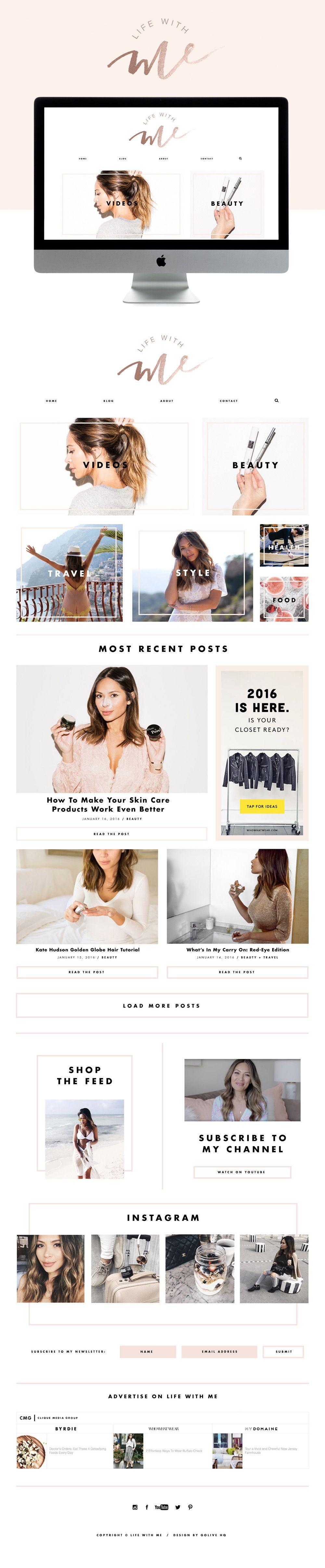 modern wordpress fashion blog design     by GOLIVEHQ.CO