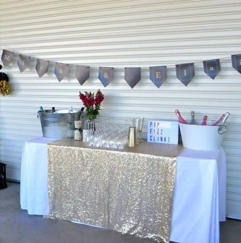 Sparkly-Champagne-Gold-Sequin-Glamorous-Tablecloth-Fabric-For-Event-Table