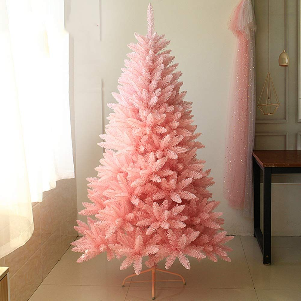Dulplay Pink Artificial Christmas Treedecorated Trees Cherry Blossom Gradient With Solid Metal Legs Christmas Tree Decorations Christmas Tree Tree Decorations