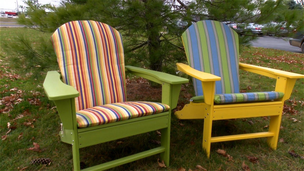 Make your own adirondack chair cushions made from sunbrella fabric