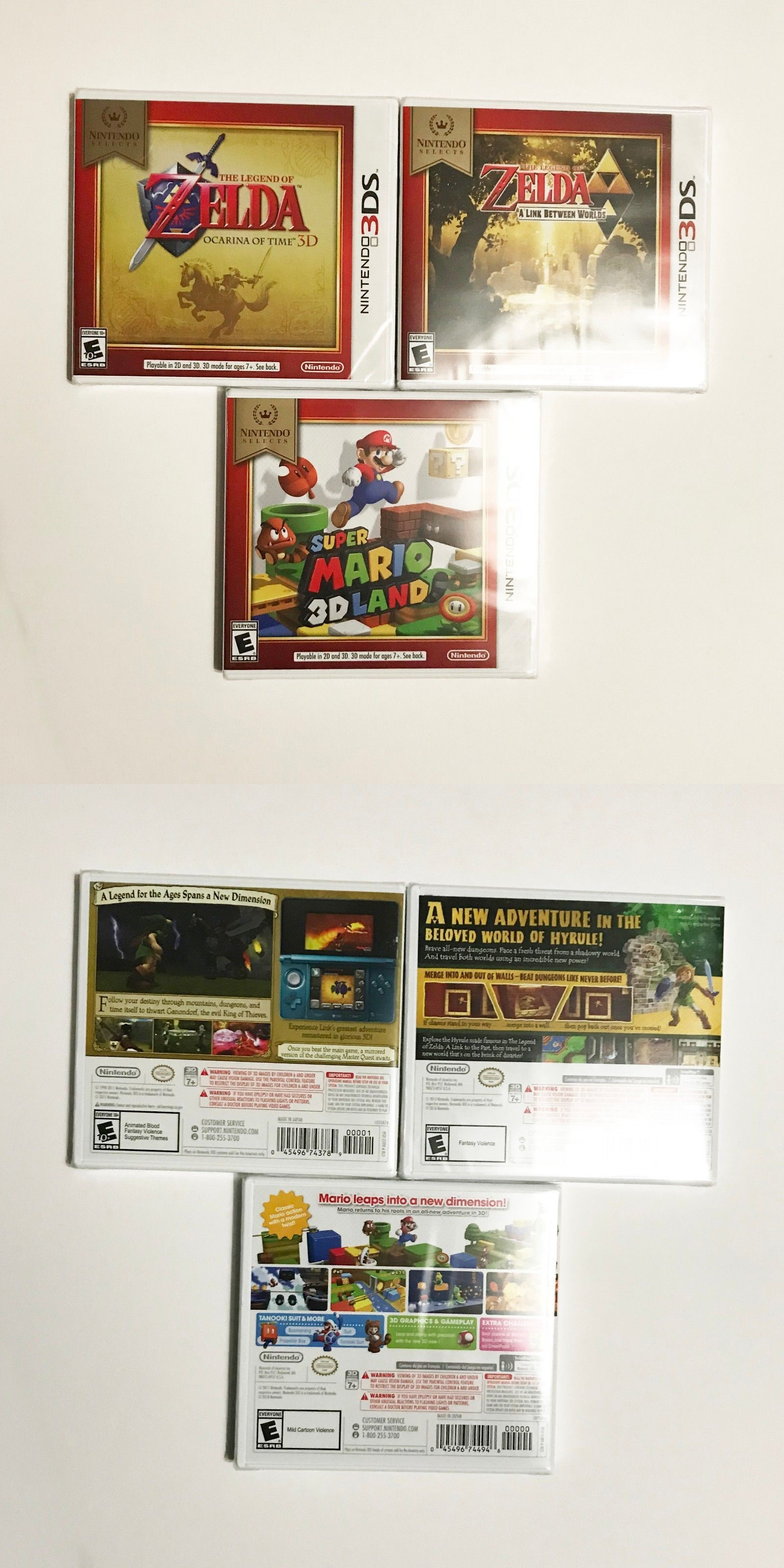 Wholesale Lots 48749: Zelda Ocarina Of Time, A Link Between Worlds